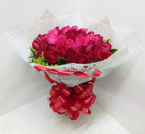 Grandioso buquê 50 rosas