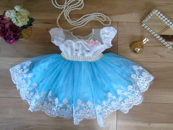 a945be354c Vestido Chuva de amor azul - Tutti Frutti Baby