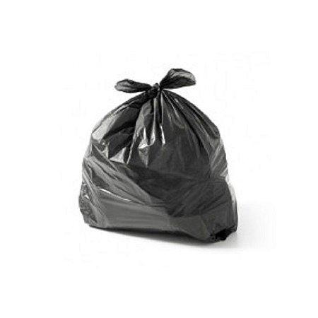 Saco de Lixo Preto 40lts Comum - 100 Unidades - Safira