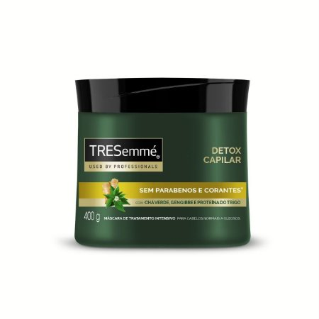 Creme de Tratamento TRESemmé Detox Capilar 400g - Creme Tresemmé Detox