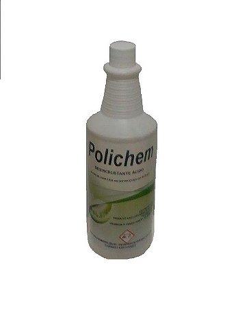 POLICHEM 1 L -Desincrustante Ácido Limpa Pedras-Uso em pedras brutas, mosaico português, calçadas, Biochemicall