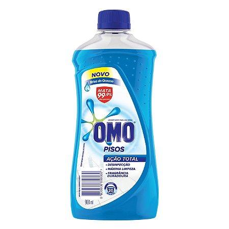 Limpador de Piso Desinfetante Omo Brisa do Oceano 900ml - Limpador de Piso Omo