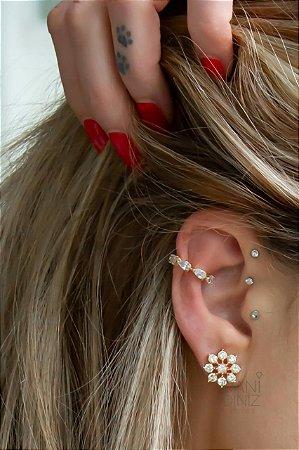 Piercing fake com cristais
