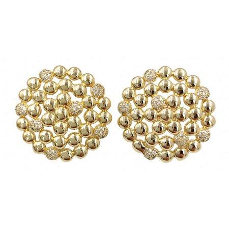 Brinco mini esferas microcravejadas Solange