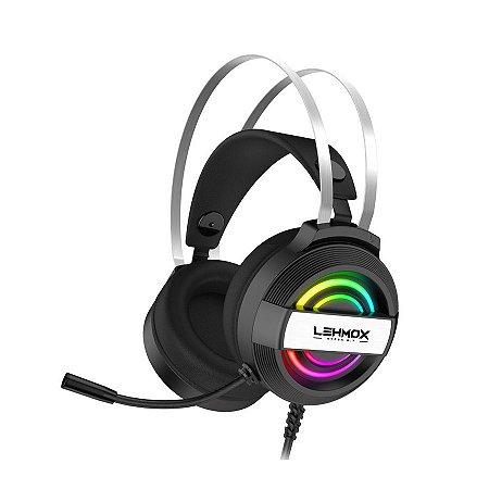 HEADSET GAMER LED RGB LEHMOX HYPER GT-F5 2X PLUG 3.5MM USB