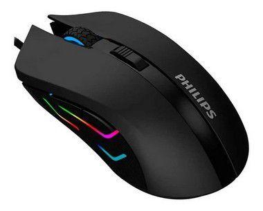 Mouse Para Jogo Philips Led Rgb 2400 Dpi Ajustável G313