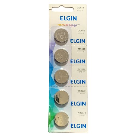 Bateria Elgin Cr 2032 3v Lithium Cartela C/ 5 Unid Placa Mae