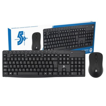 Kit Teclado + Mouse Sem Fio Wireless Abnt2 Kit Office