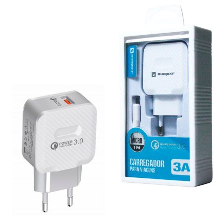 Carregador Turbo Micro Usb V8 Quick Charge 3.0 Carga Rápida