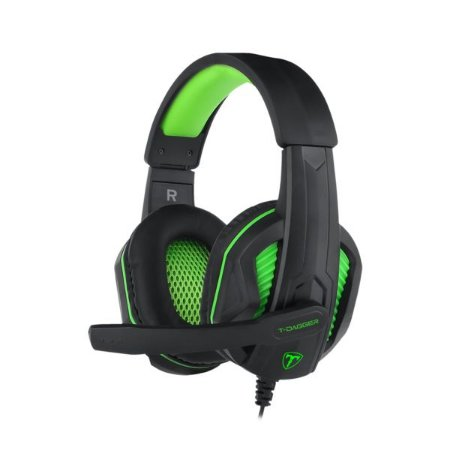 Headset Gamer T-Dagger Cook 2x3.5mm, Black/Green T-RGH100-1
