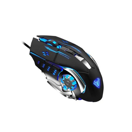 Mouse Gamer 2400dpi 6 Botões Programáveis Led Com Fio Aula - S20