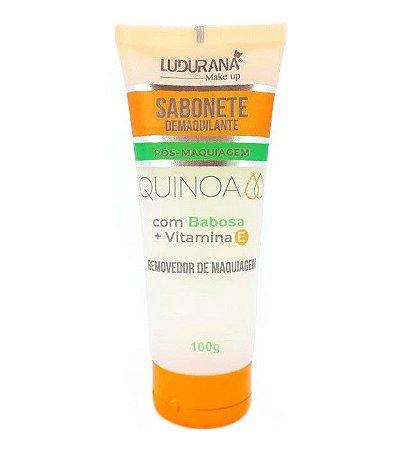 sabonete facial pos -maquiagem quinoa ludurana