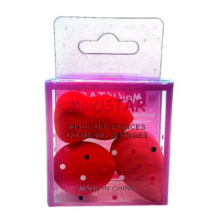 kit 3 mini esponja para maquiagem