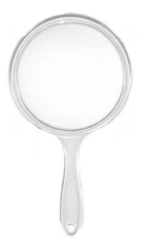 espelho de mao acrilico espelho duplo zoom aumento 5x - cores variadas