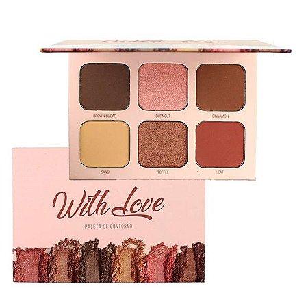 paleta de contorno whit love 6 cores - my life
