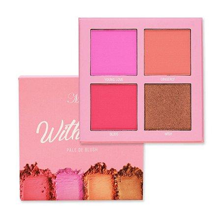 paleta de blush whith love 4 cores - my life