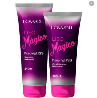 Kit Shampoo e Condicionador Lowell Liso Mágico Keeping Liss Hidratante