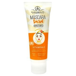Máscara Facial Hidratante Vitamina C - Phállebeauty