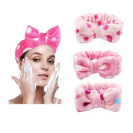 Faixa de Cabelo Para Maquiagem e Limpeza Facial