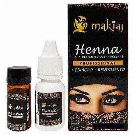 Henna para Sobrancelhas – PRETO- Makiaj