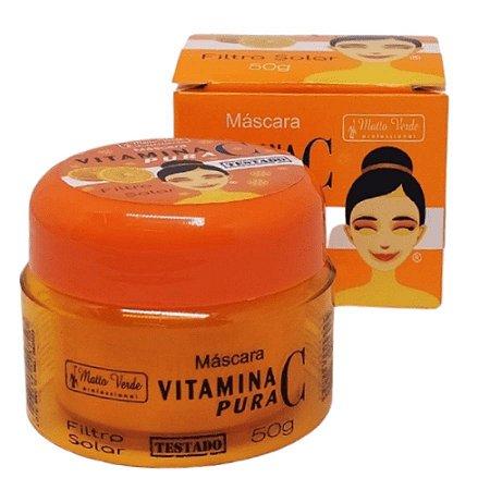 Máscara Vitamina C - Pote De 50g - Matto Verde