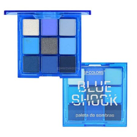 Paleta De Sombras Blue Shock (D) - SP COLORS