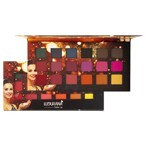 Paleta de Sombras 18 cores Matte Ludurana