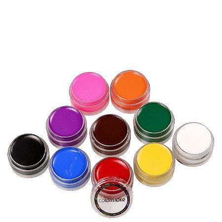 Tinta Facial Cremosa Colormake  (10 Unidades)