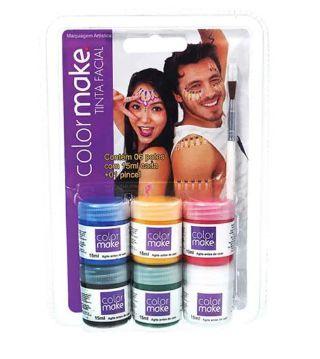 Tinta Facial Líquida Colormake - 6 cores