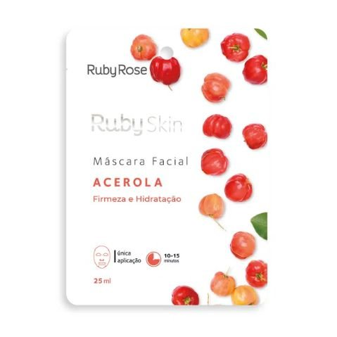 Máscara Facial de Tecido Acerola Skin Ruby Rose