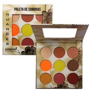 Paleta de Sombras Ludurana Nuances Amarela