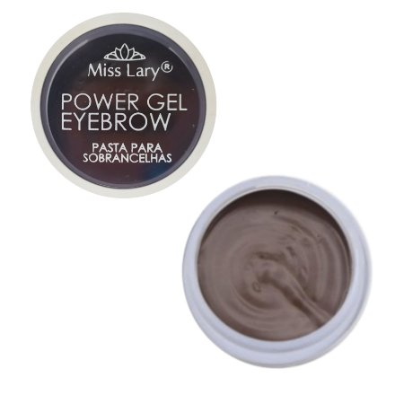 Gel Para Sobrancelha Miss Lary Power Gel - Cor MEDIA