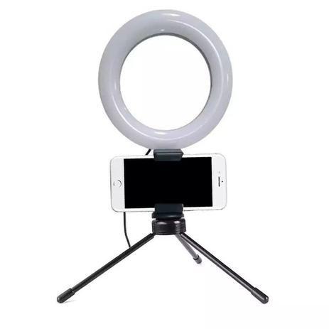 Ring Ligth De Mesa 6 Polegadas com suporte para telefone