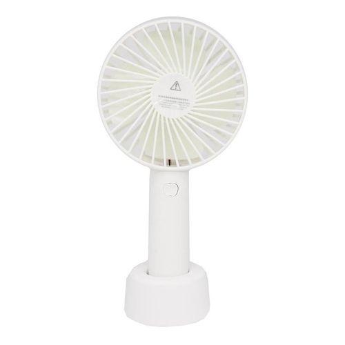 Mini Ventilador Portátil Recarregável Com Suporte de Mesa branco