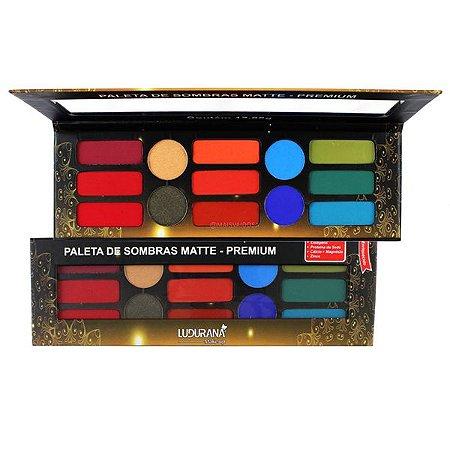 Paleta de Sombras Matte Premium Ludurana