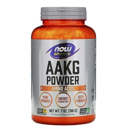AAKG Arginina Pure Powder 198g - Now Sports