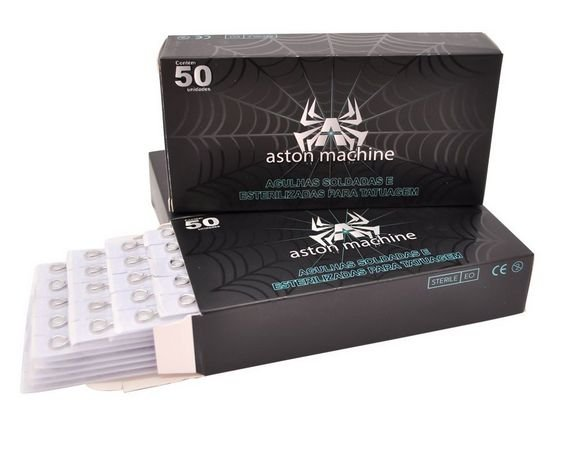 Caixa de Agulhas - Aston - Pintura Round Magnum c/ 50 unidades