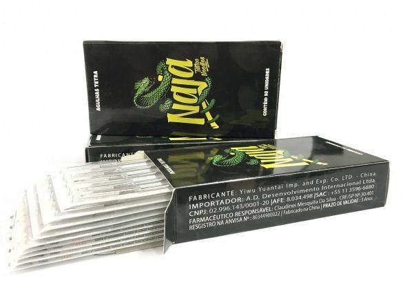 Caixa de Agulhas - Naja - Pintura Magnum c/ 50 unidades