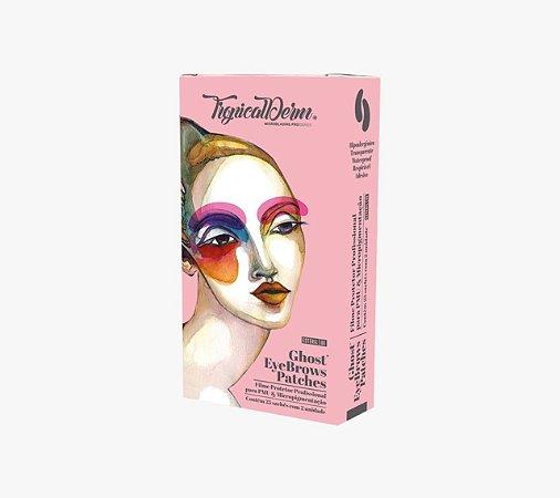 Filme Protetor Ghost Eyebrows para Micropigmentação - Tropical Derm Caixa com 25 Pares
