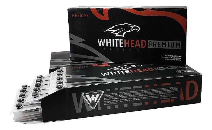 Caixa de Agulhas - White Head Premium  - Pintura Magnum c/ 50 unidades