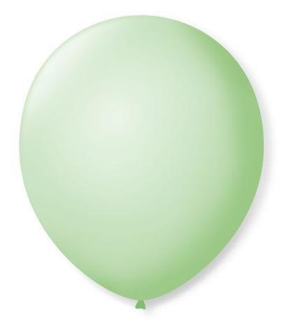 Balão liso nº7 Verde Hortelã com 50 unid.