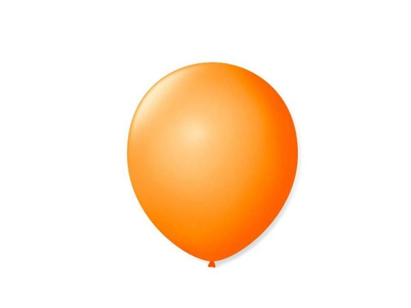Balão liso nº9 Laranja Mandarin com 50 unid.