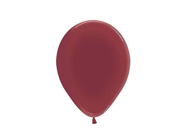 Balão liso nº7 Bordô com 50 unid.