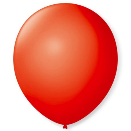Balão liso nº9 Vermelho Quente com 50 unid.