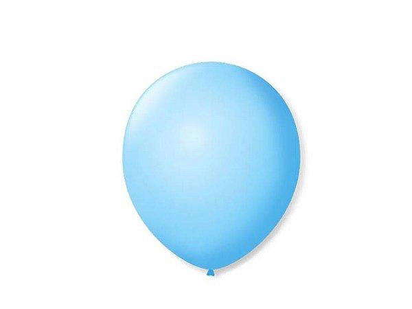 Balão liso nº9 Azul Baby com 50 unid.