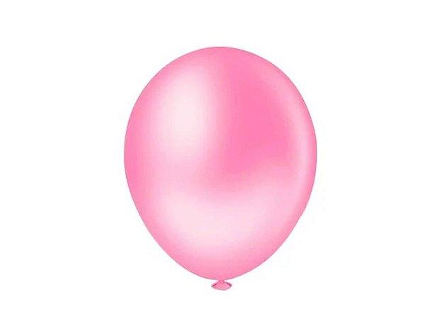 Balão liso nº9 Rosa Baby com 50 unid.