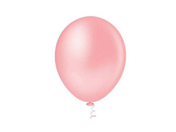 Balão liso nº7 Rosa Baby com 50 unid.