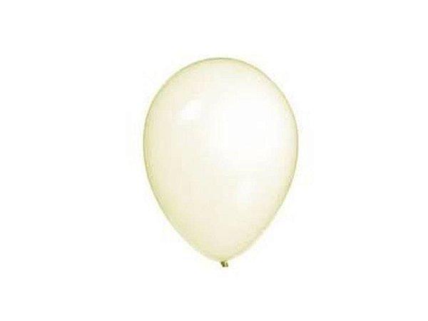 Balão liso nº7 Cristal com 50 unid.