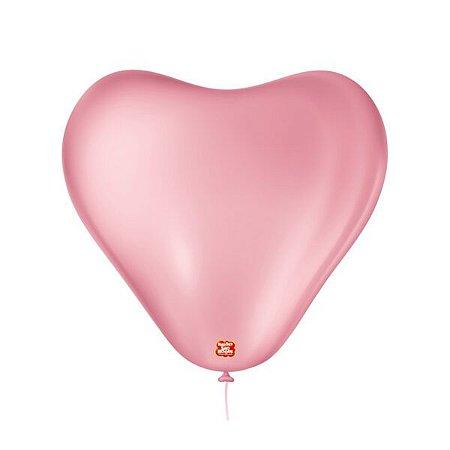Balão Coração gigante Rosa Tutti Frut