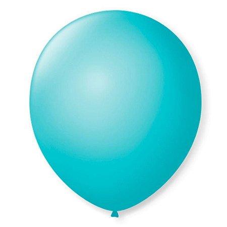 Balão liso nº7 Azul Oceano com 50 unid.